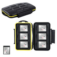 Water-resistant Storage Memory Card Case Holder fits 6 XQD Card for Nikon Z7 Z6