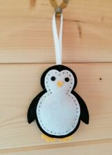 Handmade Felt Penguin hanging decoration/ornament ideal for gift