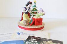 DISNEY GROLIER ANNUAL CHRISTMAS FIGURINE 1987 SNOW WHITE'S SURPRISE Original Box