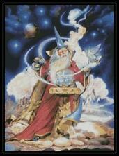 Wizard and Dove - Cross Stitch Chart/Pattern/Design/XStitch