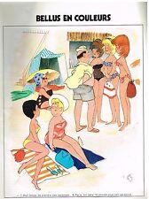 Publicité Advertising 1974 Jean Bellus en couleurs