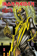 Iron maiden killers poster! Skull 80s rock England Steve Harris Piece of Mind