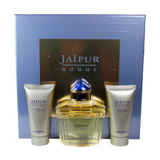 Boucheron Jaipur Homme (M) Set EDT Spray+ Aftershave Balm+ Shower Gel NIB