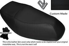 Puntada Negro Personalizado Se Ajusta Yamaha Cygnus 125 04-13 Cubierta de asiento de cuero real de doble