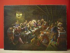 Dipinto olio su tela, quadro ULTIMA CENA / IL CENACOLO, di M.Grazia Breveglieri