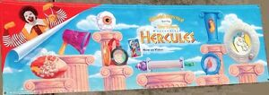 """McDonald's HAPPY MEAL TOYS Promotional Banner 96"""" x 30"""" Disney's HERCULES MOVIE"""