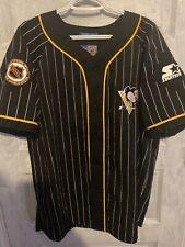 Vintage Starter Pittsburgh Penguins Baseball Jersey Pinstripe Large