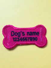 personalised embroidered dog/cat collar tag