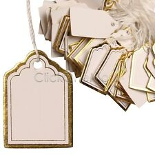 SG - 1000 Pcs Gold Price Tag Retail Label Tie String Jewelry Watch Display US