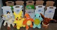 Complete Set All 5 Pokemon Build-A-Bear Charmander Pikachu Meowth Squirtle Eevee