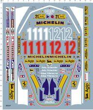 Detail 1/12 Scale F1 Ferrari 312T4 Gilles Villeneuve 312T Model Kit Marine Decal