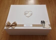 EXTRA LARGE PERSONALISED LUXURY WEDDING KEEPSAKE BOX ❤️ ADD ANY NAMES/DATE