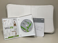 Nintendo Wii Fit Video Game and Balance Board Bundle TESTED WORKING