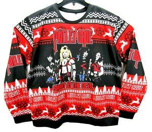 Motley Crue  Size XL Holiday Christmas Sweatshirt Ugly Sweater RARE
