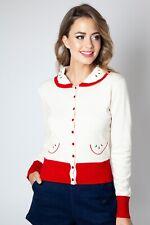 VOODOO VIXEN Clara apple cardigan Vintage Cardi Top caa3061 UK6-16 New