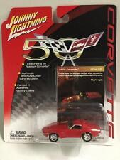 Johnny Lightning 1:64 Die cast 50 Years of Corvette 1970 Corvette in Red Moc