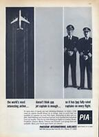 1962 Pakistan International Airlines PRINT AD PIA  Jet Two Fully rated Captains
