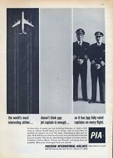 1962 Pakistan International Airlines PIA PRINT AD Jet, Two Fully rated Captains