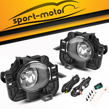 for 2007-2009 Nissan Altima 4DR Clear Bumper Fog Lights Lamps+Wiring+Switch PAIR