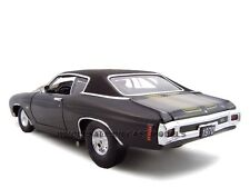 1970 CHEVROLET CHEVELLE BLACK PRO STREET 1:24 MODEL CAR BY UNIQUE REPLICAS 18678