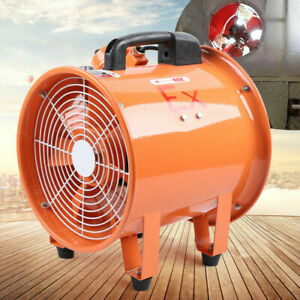 """Explosion-proof 12"""" Axial Fan Cylinder Pipe Spray Booth Paint Fumes Exhaust Fan"""