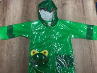 Kidorable Boys Girls Green Frog Raincoat with Hood Size 2T