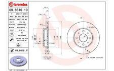 1x BREMBO Disco de freno delantero Ventilado 240mm Para FIAT PANDA 09.8616.11
