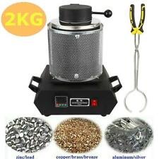 2KG Electric Digital Gold Melting Furnace Silver Metal Jewelry Crucible Smelter
