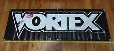 LOOK! VORTEX RACING BANNER! & VORTEX / YOSHIMURA STICKER DECALS RARE! 2' X 6'