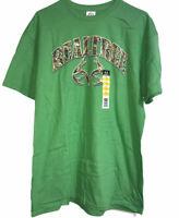 Delta REALTREE Mens S/S Green T Shirt Size Large 42-44 Camo Logo