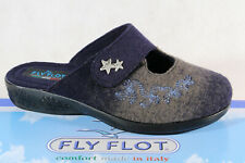 Fly Flot Ladies Slippers Mules Slippers Blue