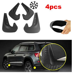 Fits Car Truck Mud Flaps Black Guards Splash Guards Molded Front Rear 4 Pcs/set