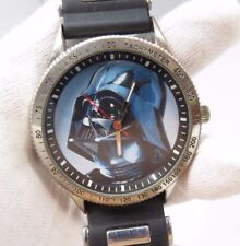 "STAR WARS,Darth Vader ""Battle Worn"",Distressed BIG 9"" Wrist, MEN'S WATCH,70,L@@K"
