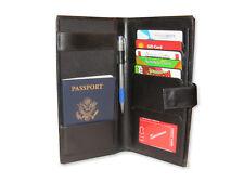 Genuine Leather Travel Wallet Purse Passport & Card Holder Document Organizer