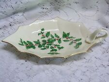 Lenox Holiday Holly Leaf Shaped Relish Tray