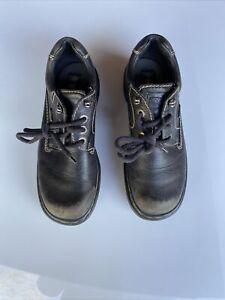 Vintage Doc Martens Oxford Shoes 9272 Black Leather 3 Eyelet Made in England