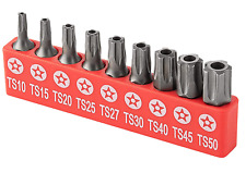 Ram Pro 9pc Torx Star 5 Point Security Tamper Proof Driver Bit Set T10 152