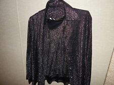 Disco vintage 70's Black and silver disco blouse