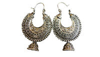 Indian Earrings Antique Silver Plated Fashion Wedding Natural Polished Jhumka