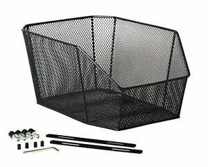 Gepäckträgerkorb Schultaschenkorb Korb Schwarz Festmontage stabil hinten schwarz