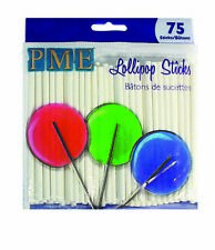 PME 9.5cm Cake Pop Party Lollipop Lolly Candy Sticks High Quality 75 Pk
