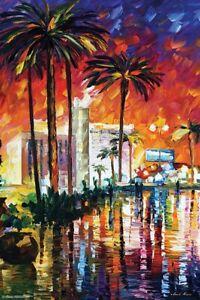 LAS VEGAS - LEONID AFREMOV ART POSTER 24x36 - 11605