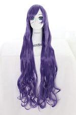 Y-20-26 lila purple 100cm Cosplay Wig Perücke Perruque Anime Curl Locken