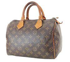 Authentic LOUIS VUITTON Speedy 25 Monogram Boston Handbag Purse #36006