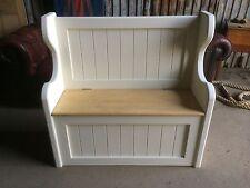 Solid 3 Ft Pine Handmade Monks Pew Settle Storage Bench Window Hallway Seat