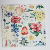 """Waverly Floral Festival Garden Fabric Sample 27"""" x 27"""" Crafts Quilting Cotton"""