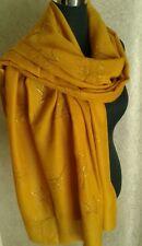 Ladies Mustard Star & Mulberry Tree Print Sparkly Scarf Stole Shawl BNWT