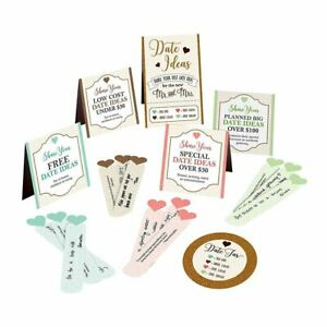 Bridal Shower Games Date Night Suggestion Cards Bride Groom Gift Hens Party