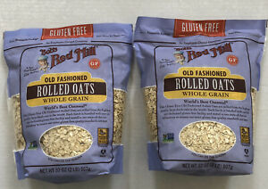 2-Pk Bob's Red Mill Old Fashioned Rolled Oats - Gluten Free 32 oz Bags - Set Lot