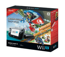 Nintendo Wii U MARIO KART 8 Deluxe set 32GB Black Console Game pre-installed